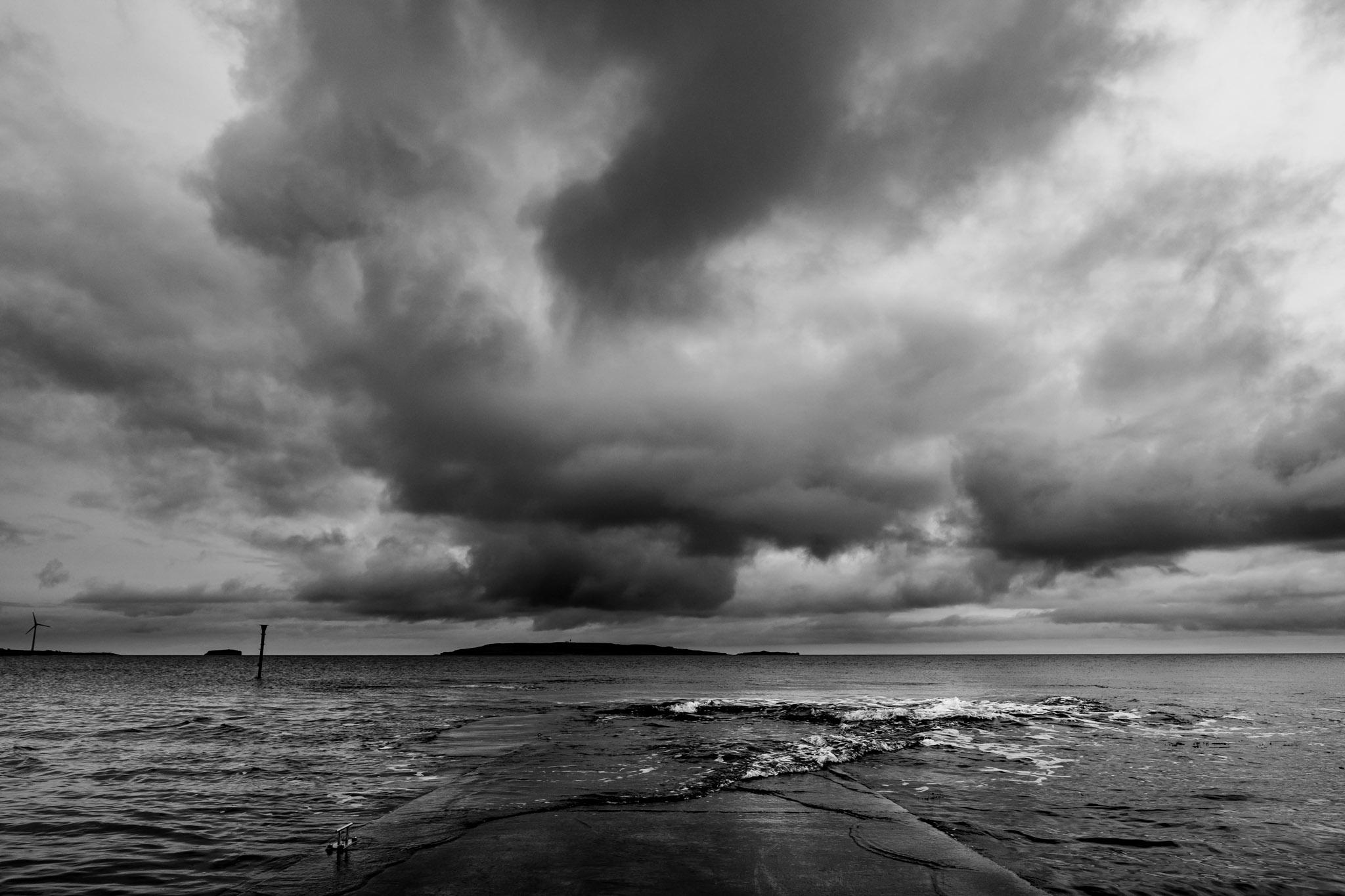 Orkney seascape bw