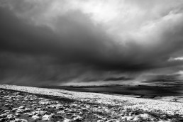 Approaching Snow Storm B&W